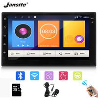 Jansite 7 2 din Android 8.1 Car Radio MP5 Multimedia player Digital Touch screen mirror Bluetooth + High fidelity microphone