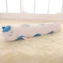 1 шт. новый творческий плюшевый кот подушку долго мультфильм кошка подушка кукла подарок о 100/145 см плюшевые подушки мягкие игрушки день рождения подарок