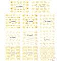 1 Unidades 11 diseños moda estilo de la flor arco etiquetas engomadas del clavo 3D oro plata Nail Art tatuajes de manicura decoración herramientas de belleza Y100-110