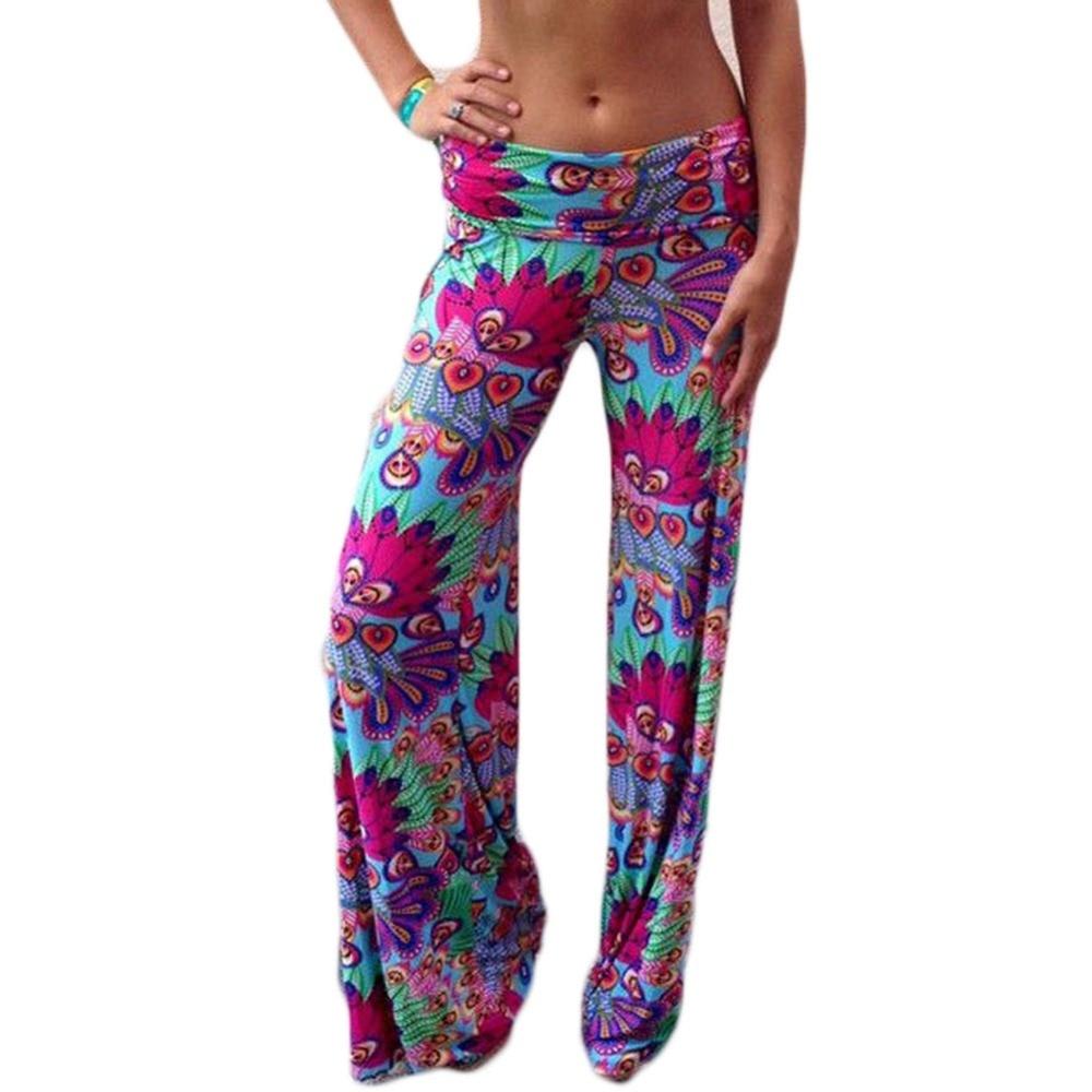 wide     leg     pants   women baggy palazzo trousers causal loose print long pantalon femme mujer