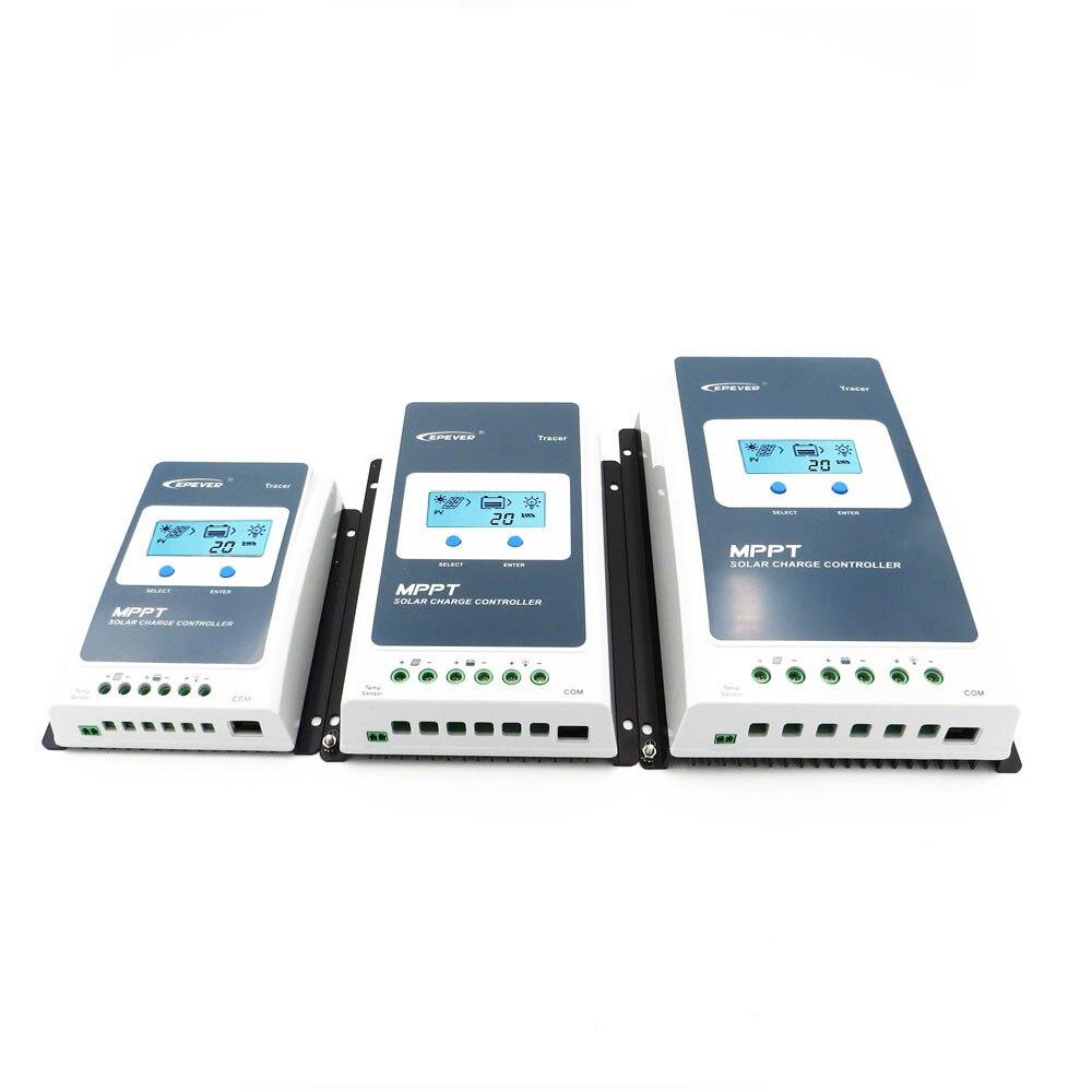 MPPT 40 30 20 10 ampères régulateur de Charge solaire rétro-éclairage LCD régulateur solaire pour Batteries au Lithium-ion au plomb 12V 24V