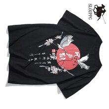 SLOUPPG Chinese style Harajuku short-sleeved high quality Original print cotton mens tshirt Casual Oversize hip hop men