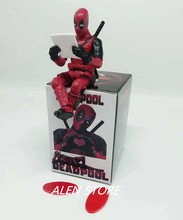 ALEN Super Heros Deadpool Sitting Yamaguchi Style Joint Anime Action Figures PVC Model Collection Toy