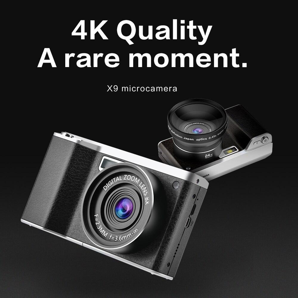 Nouveau style X9 écran tactile 24MP 12X Zoom optique F3.2-6.5 enregistreur vidéo caméra numérique avec 52mm grand Angle + objectif Macro - 5