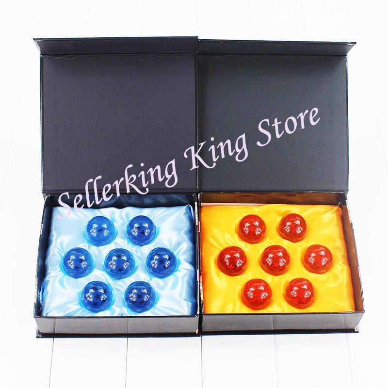 1 takım DBZ 3.5cm Dragon topu Z Dragonball Shenron kristal top PVC şekil oyuncaklar 7 yıldız topları bebek mavi/sarı büyük hediye