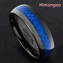 Himongoo 8 мм черное мужское кольцо из карбида вольфрама обручальное