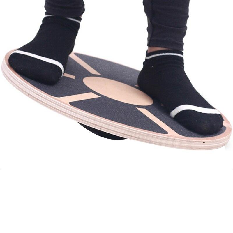 Disque de Fitness antidérapant Gym taille noyau de musculation plaque d'entraînement exercice équilibre stabilité formateur Yoga planche d'équilibre en bois oscillant