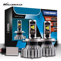 MALUOKASA T1 H1 H3 9005 9006 H4 HB2 9003 Hi Lo Beam H7 LED Headlight Bulbs