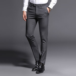 Image 2 - 2018 New Slim Fit Men Pants Stretch Trousers Mens Sunmmer High Quality Classic Casual Clothes Formal Straight Suits Long Pant