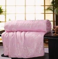 100% Natural Mulberry Silk Queen/Full Summer/Winter/Autumn/Spring Comforter Bedding Set White/Pink Wholesale Quilt Throw Blanket
