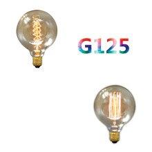купить BOKT Edison Bulb E27 Retro Lamp G125 Vintage Incandescent Bulb 220v Holiday Lights 40W Filament Lamp Lampada Home Decor 2 Pack дешево