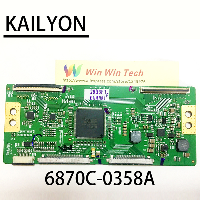 все цены на free shipping 100% original logic board V6 32/42/47 FHD 120HZ 6870C-0358A VER1.0 онлайн