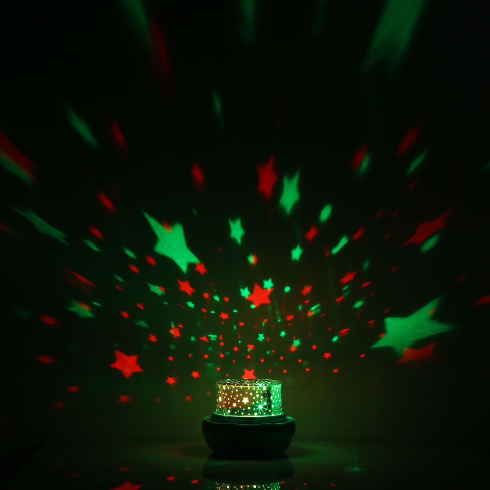 Us 12 76 27 Off Cute Led Flower Bud Night Light Colorful Rotating Star Projector Lamp For Bedroom Beautiful Gifts Friends Or Childs Z30 In