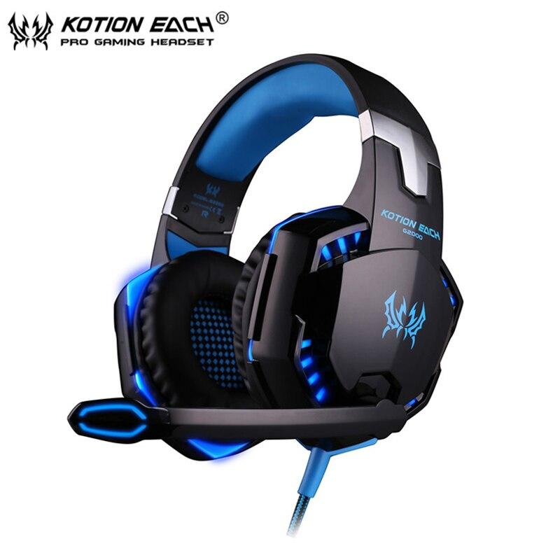 Gaming Headphone casque Kotion EACH G2000 font b Best b font Computer Stereo Deep Bass Game