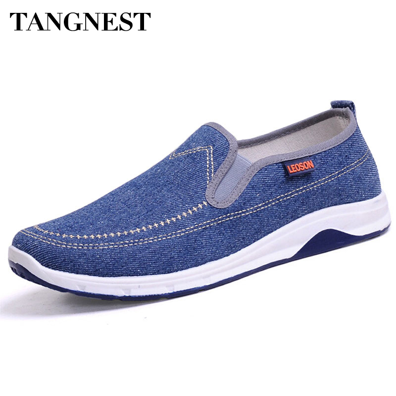 Tangnest 2016 Mode Herr Casual Shoes Vår Sommar Nya Män Peking Skor Bekväm Slip-On Canvas Skor Man XML108