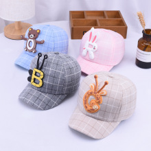 Fashion Cartoon Baseball Caps Children Cute Style Little Bear Hat Lovely White Rabbit Kids Boys And Girls