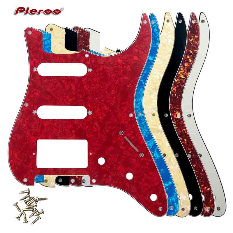 Guitar Parts For US 57 Year 8 Screw Holes Stratocaster Guitar Pickguard With Bridge PAF Humbucker Single HSS Scratch Plate