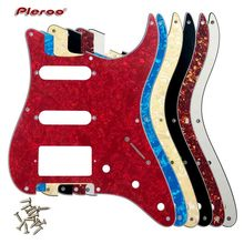 Guitar Parts For US 57 Year 8 Screw Holes Stratocaster Guitar Pickguard With Bridge PAF Humbucker Single HSS Scratch Plate 8 different colors 3 ply jimi hendrix strat guitar pickguard reverse bridge for stratocaster