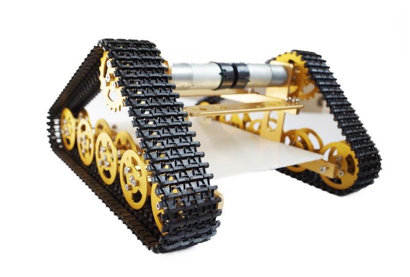 Aluminum Alloy Metal Wall-E Tank Chassis Robot Crawler Creeper Caterpillar for Arduino T400 doit yellow t400 aluminum alloy metal wall e tank chassis robot crawler tracked model