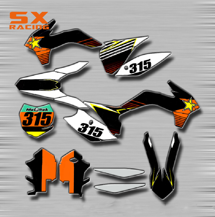 Motorcycle Decals Customize Pattern Custom Made Stickers Set For KTM SX SXF SXS SMR EXC EXCF XC XCF XCW XCFW MX EGS Dirt Bike стоимость