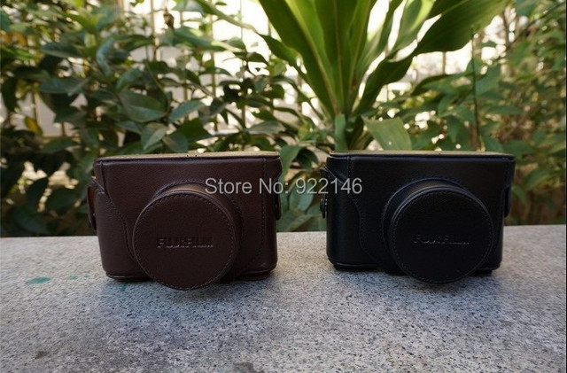 New popular free shipping leather case can wholesale camera bag for Fuji X10 wholesale free shipping