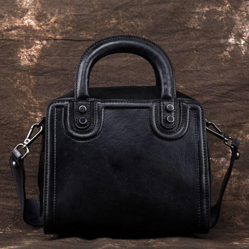 Dame de haute qualité de forme carrée femmes en cuir véritable rabat sac Vintage boîte Cube sac bloc rétro Mini Design concis bandoulière