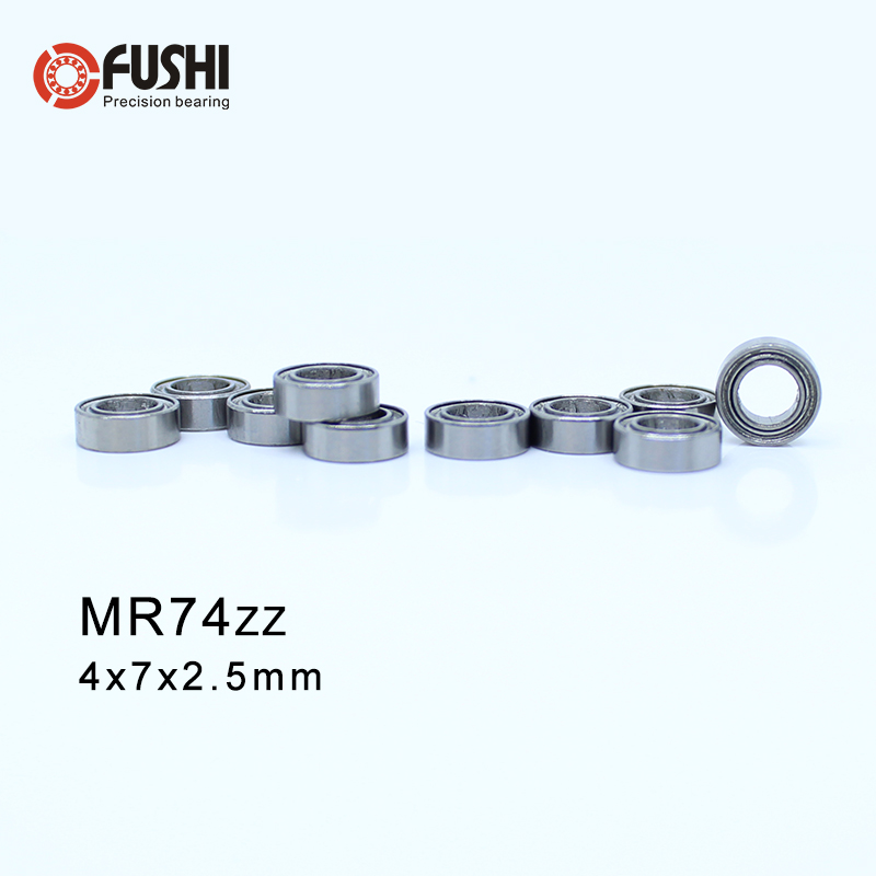 MR74ZZ Bearing ABEC-1 10PCS  4X7X2.5 Mm Miniature MR74 ZZ MR74Z Ball Bearings L-740ZZ MR74-ZZ