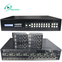 4k HDMI Matrix 8x8 HDBaseT extended CAT5e/6/7 100m supports HDMI2.0 HDCP 2.2 4K 3D 1080p IR RS232 EDID management