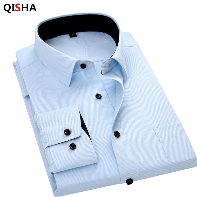 Männer langärmeliges hemd slim fit stil design einfarbig business - Herrenbekleidung - Foto 6