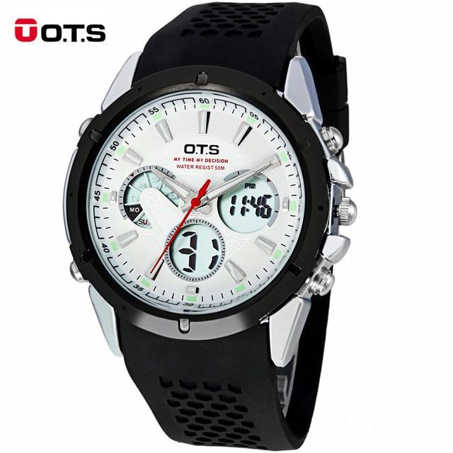 Reloj Hombre OTS Watches Men Brand Luxury LED Digital Watch Men's Multifunction Sport Watches Waterproof Clock Relogio Masculino
