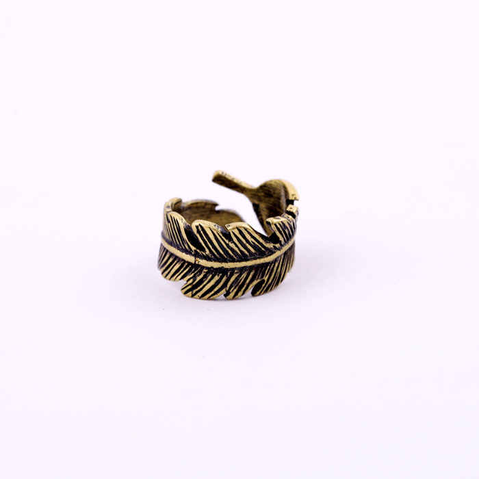 Leaf Feather Ring