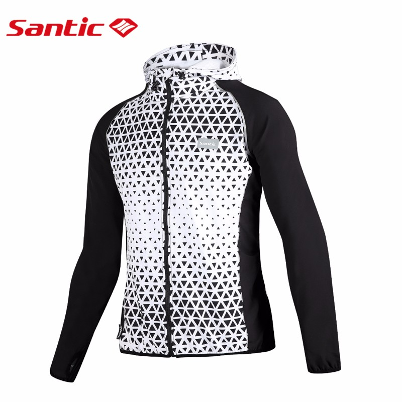 ФОТО Santic Spring Autumn Cycling Jersey White with Black Sports Bike Breathable Unisex Jersey Cyling ropa ciclismo hombre KC6102