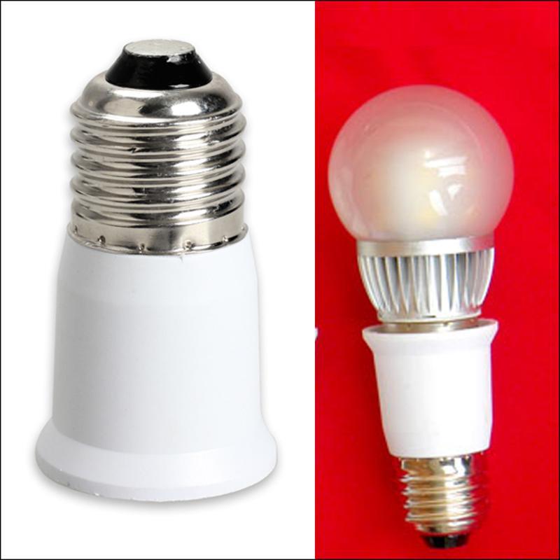 1pc LED Adapter E27 To E27 Extension Socket Base CLF LED Light Bulb Lamp Adapter Converter Plug Extender LED Light Accessories