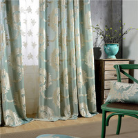 Spot The Sitting Room The Bedroom Curtain Cloth Woven Of Europe Type Jacquard Curtain