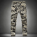 2017 Flower Trousers Mens Fashion Pants Flower Print Slim Casual Pants Joggers Ankle-length Pants Plus Size S-5xl