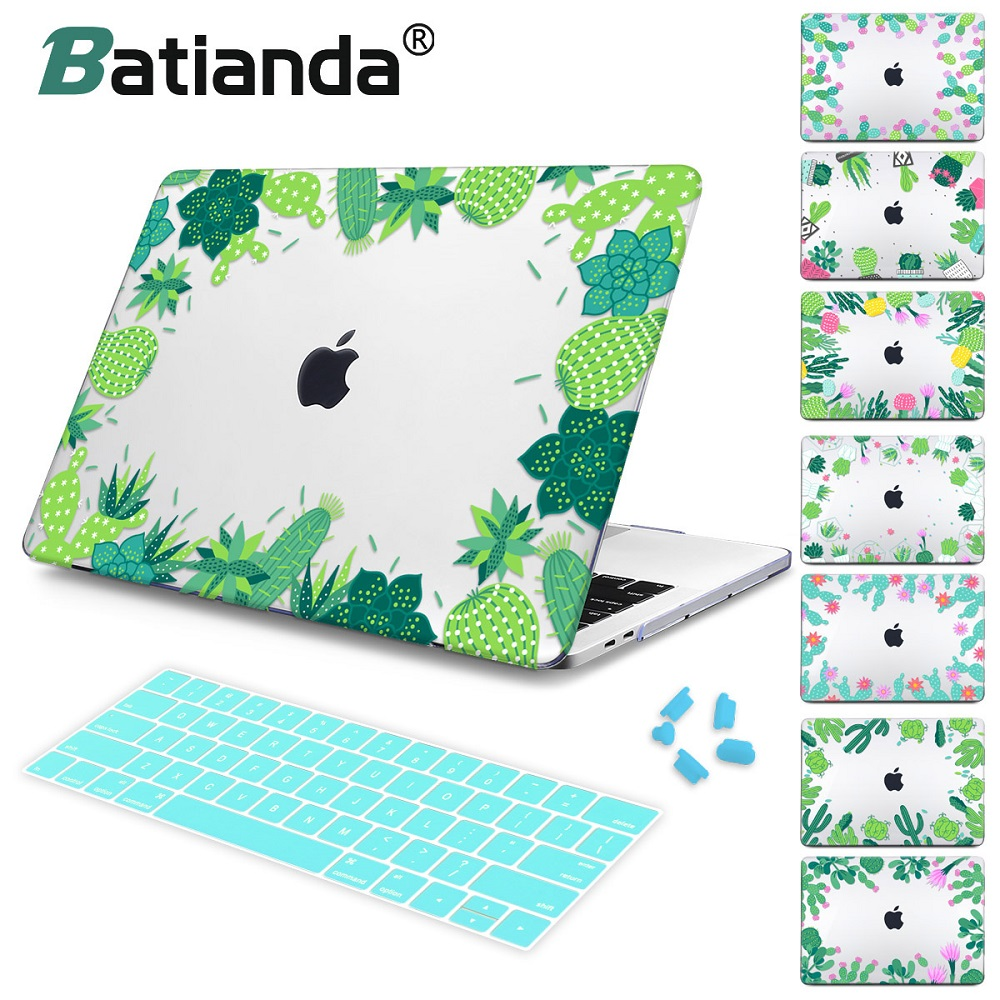 Tropical Leaves Green leafs Crystal case For Apple mac book Air Pro Retina 11 12 13 15 Laptop Bag Case for Macbook Pro 13 15 tropical leaves print tapestry