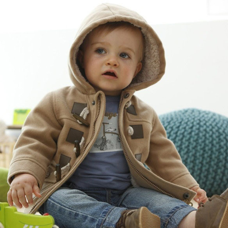 753983580 1 2 3 4 5 Year Baby Boys Winter Coat 2018 New Thicken Hooded Kids ...