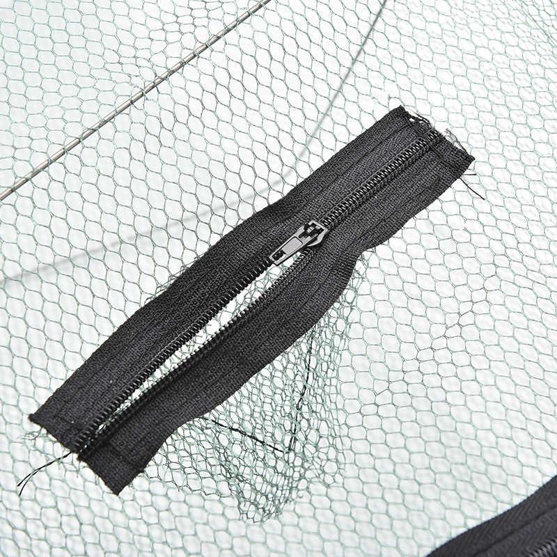 1Pc Pieghevole di Nylon Rete Da Pesca di Cattura Granchio Pesce Crawdad Gamberetti Minnow Gabbia di Rete Esca per la Pesca Trappola Cast Dip Drift shrimping Netto