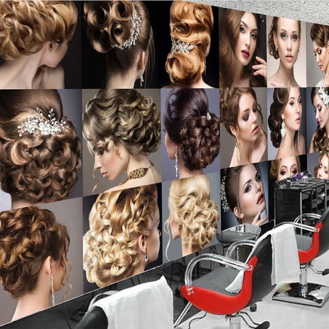Custom Photo Silk 3d Wallpaper For Walls 3 D Barbershop Hair Cut