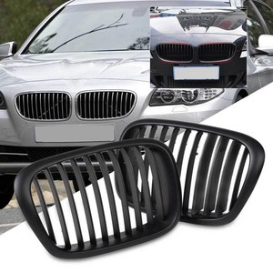 Image 2 - Rejillas delanteras de doble línea, color negro mate, para BMW serie 5, E39, 2006 2012, SR1G, accesorios de estilo de coche