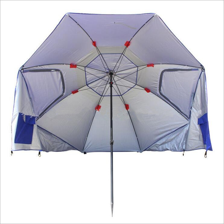 Outdoor Leisure Folding Anti UV Beach Umbrella
