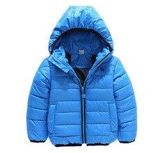 2017 hiver mode enfants vêtements survêtement de coton-rembourré manteau enfants vestes à capuchon bébé garçons vêtements