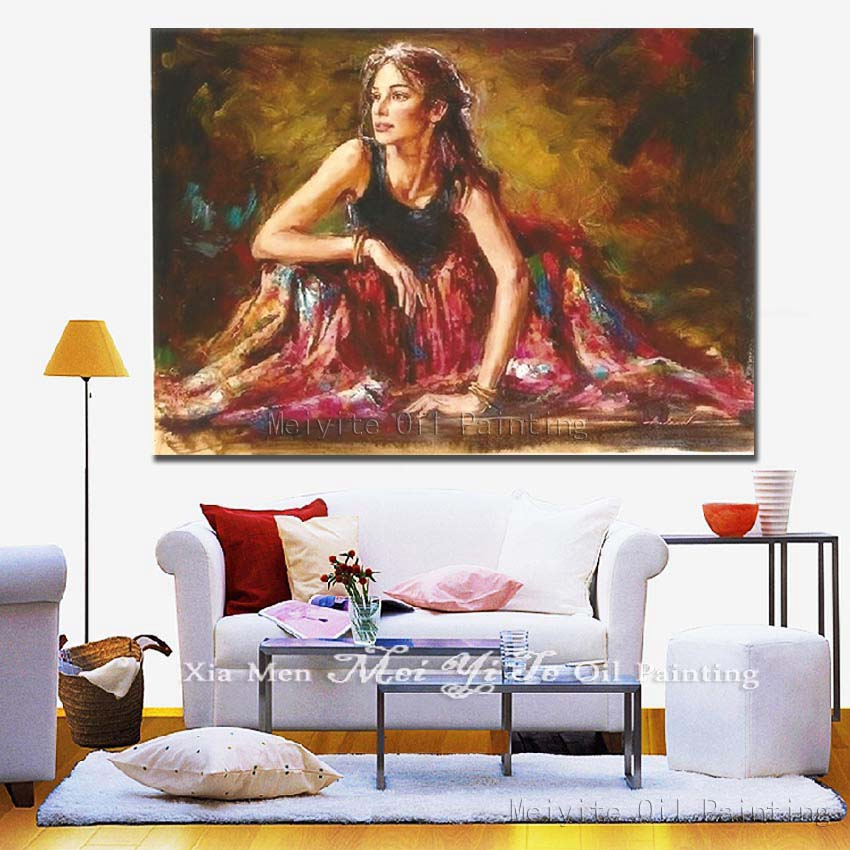110e57d2f Env-o-libre-retrato-pintura-al-leo-mujeres-hermosa-Falda-larga-Mujer-imagen-de-la-pared.jpg