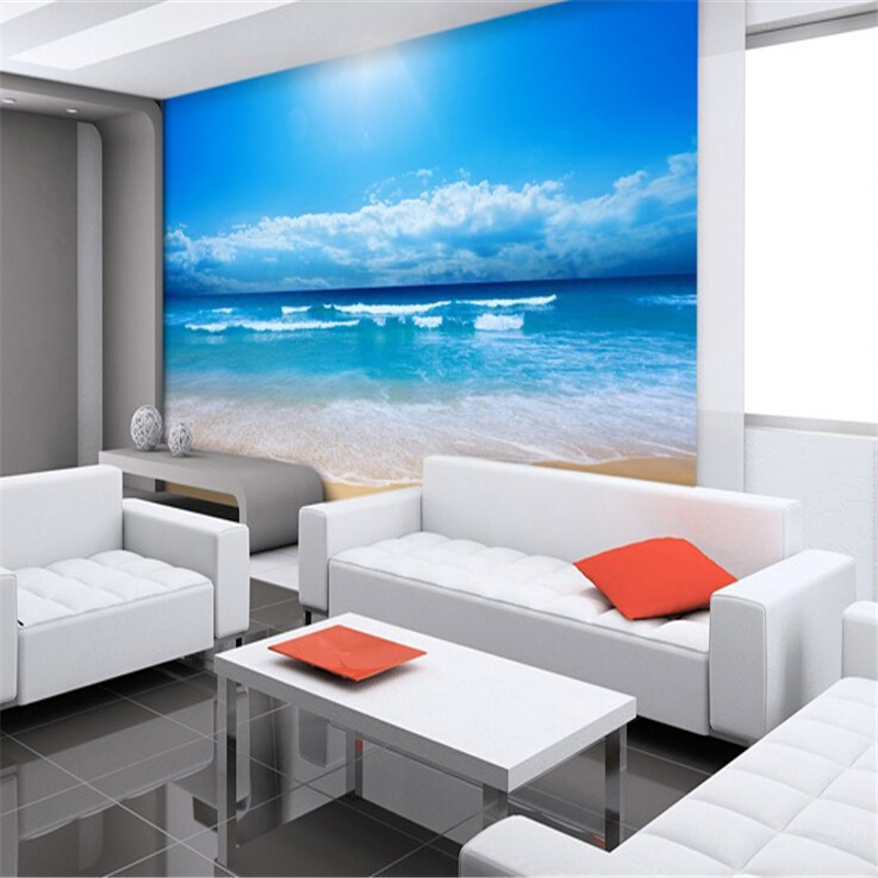 Beibehang 3d Photo Wallpaper 3d European Silk Cloth Wallpaper Bedroom Ocean  Sky Ocean Beach Wall Mural Wall Paper Contact Paper In Wallpapers From Home  ...