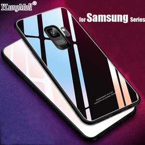 Tempered Glass Back Case for Samsung Galaxy S9 S8 S7 edge Note 8 9 J2 J5 J7 J3 2017 Pro Prime C8 J4 J6 A6 A8 Plus 2018 Cover