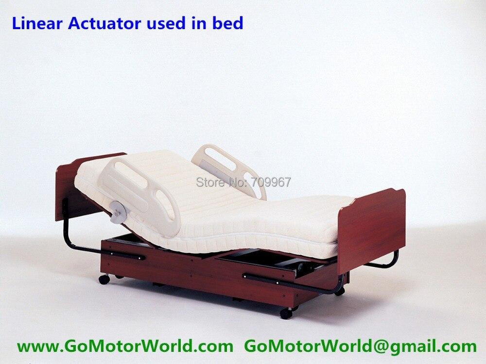 6000N нагрузки 200 мм ход 5 мм/сек. Скорость 24V линейный привод для медицинской кровати электрическая кровать