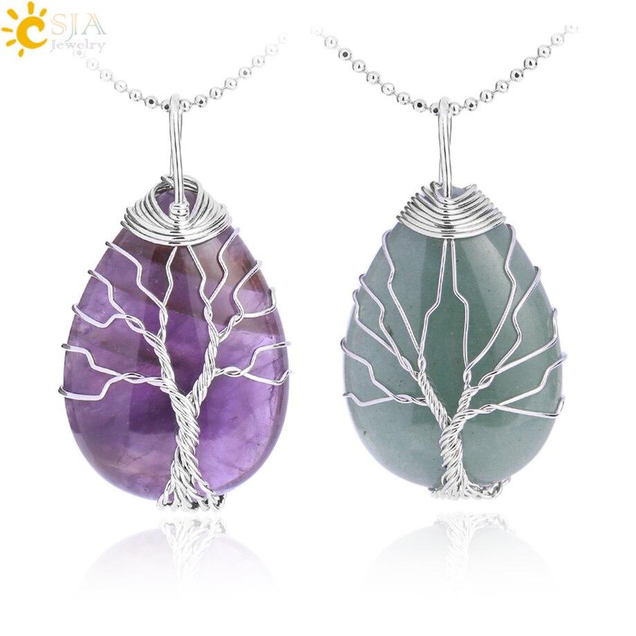 Wholesale 20pcs Fashion natural amethyst stone cylinder pendulum charms Pendants
