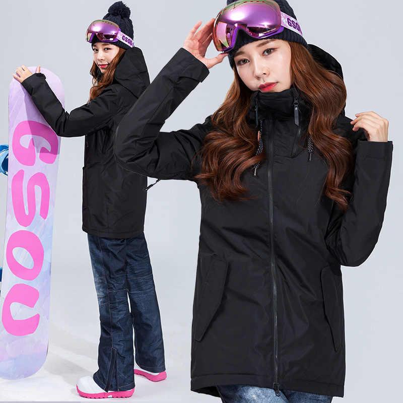 Gsou Snow 2018 Skiing Clothing Set New Waterproof Jacket Snow Ski Suit Set  Womens Snowboard Jackets 78ee78c20