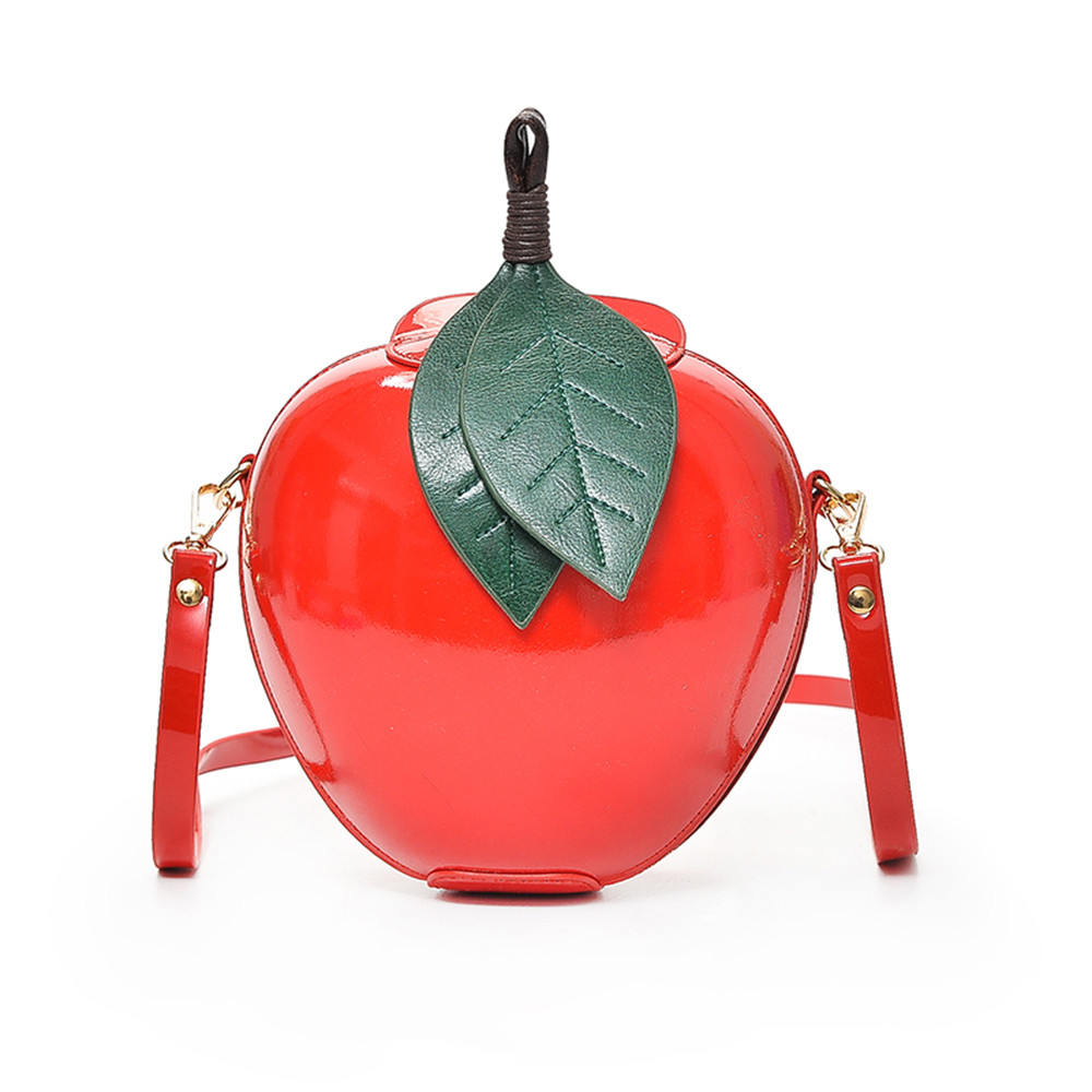 2019 New Hot Cute Cartoon Bags Apple Shape Shoulder Bag for Girls Mini Bags Personality Purse Fashion Messenger Bag #Zer