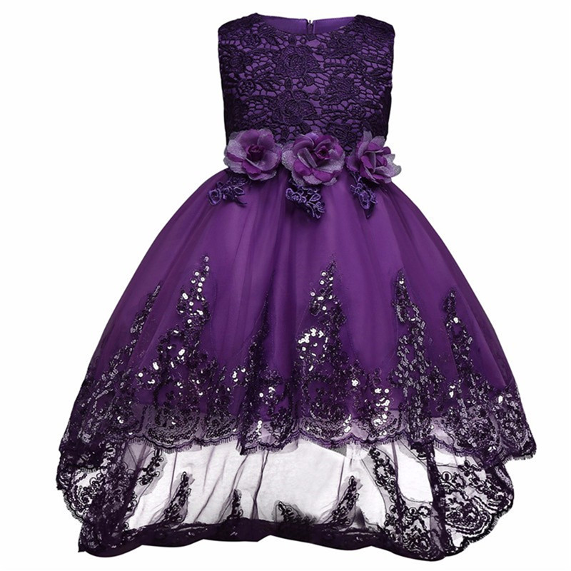 Princess Girl Dress 2018 New Teenage Girls Lace Tulle Party Dresses Wedding Birthday Dress Up Formal Lace Christening Gowns girls lace floral criss cross back tulle flower girl dress princess dresses elegant bowknot wedding birthday party vestido dress